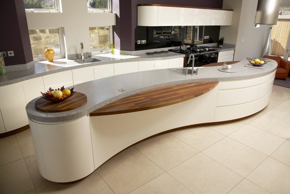 Curved Kitchens - Four Seasons Fitted Kitchens Leeds