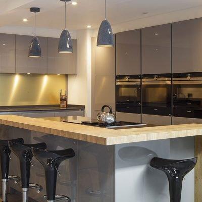 roundhay leeds gloss grey kitchen thumb