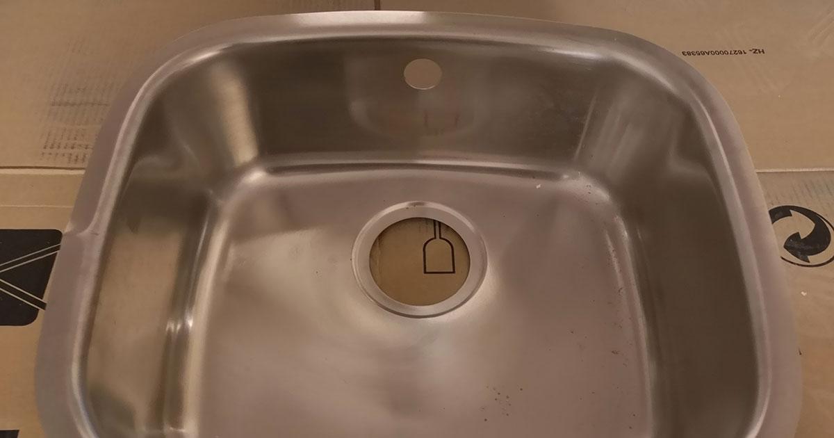 damaged Steel Kitchen Sink