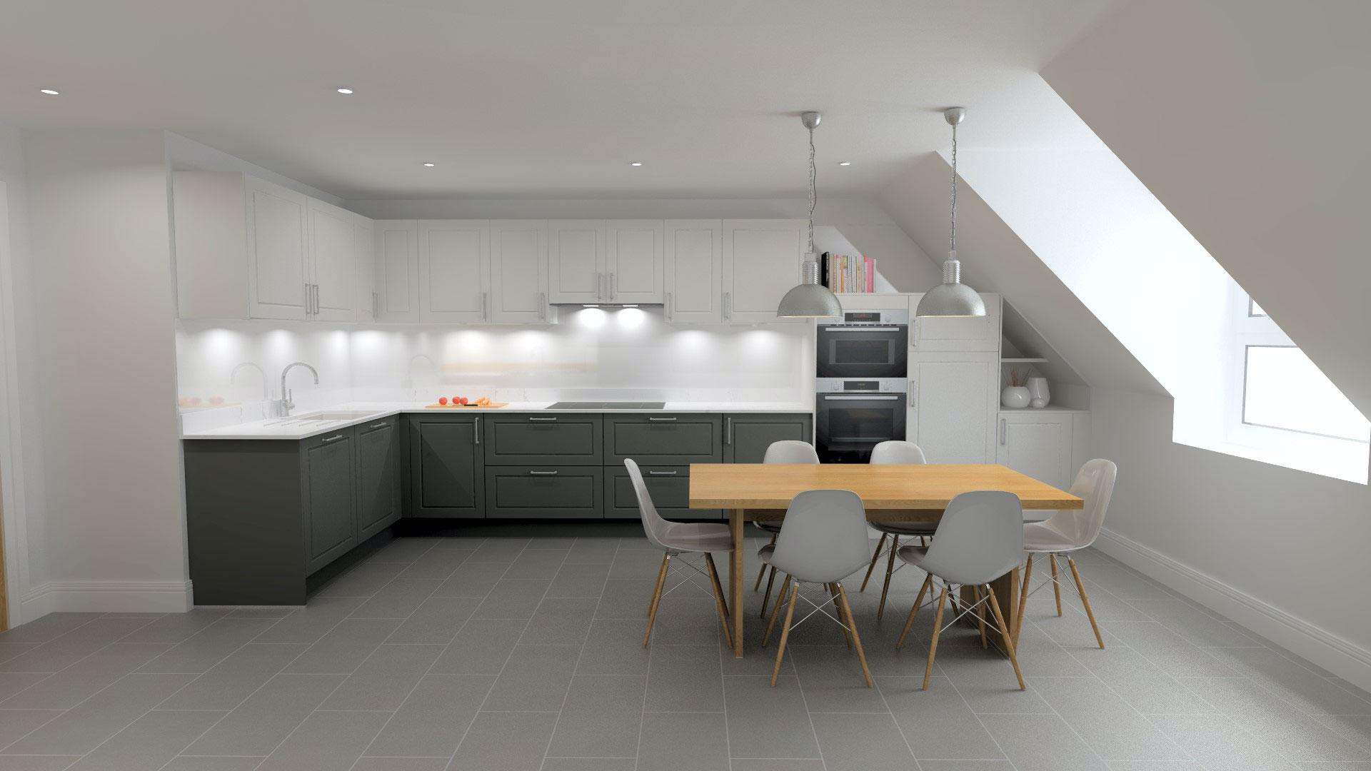 Amberstone Developments Sandgate house kitchen 1